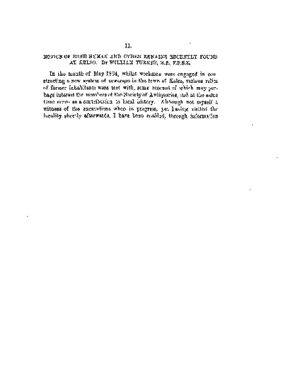 Notice of some Human and other Remains recently found at Kelso., Volume 6, 245-9