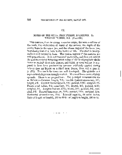 Note on a Human Skull found at Fyrish, Inverness-shire., Volume 6, 266
