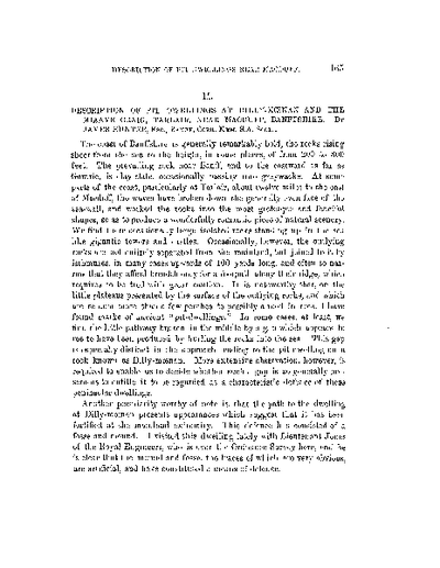 Description of Pit Dwellings at Dilly-moenan and the Miaave Craig, Tarlair, near Macduff, Banffshire., Volume 7, 465-71