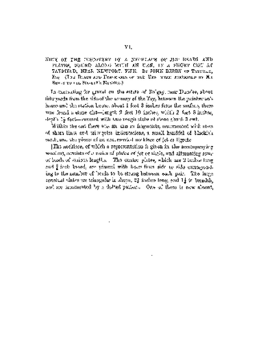 Note of the Discovery of a Necklace of Jet Beads and Plates, found along with an Urn, in a short cist at Balgay, near Dundee., Volume 8, 411-2