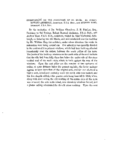 Observations on the Structure of St. Giles., Volume 16, 284-8