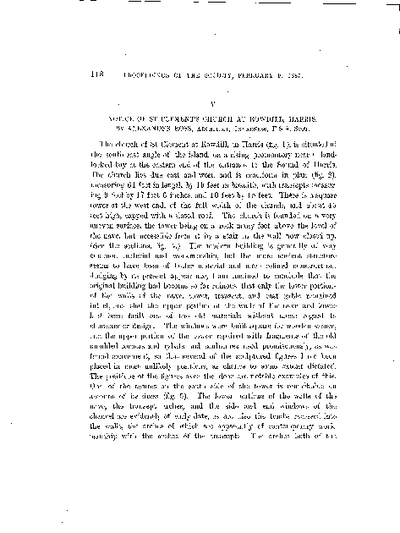Notice of St Clement's Church at Rowdill, Harris., Volume 19, 118-32