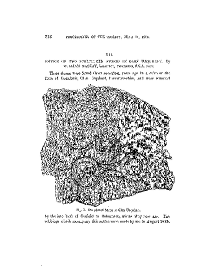 Notice of Two Sculptured Stones in Glen Urquhart., Volume 20, 358-60