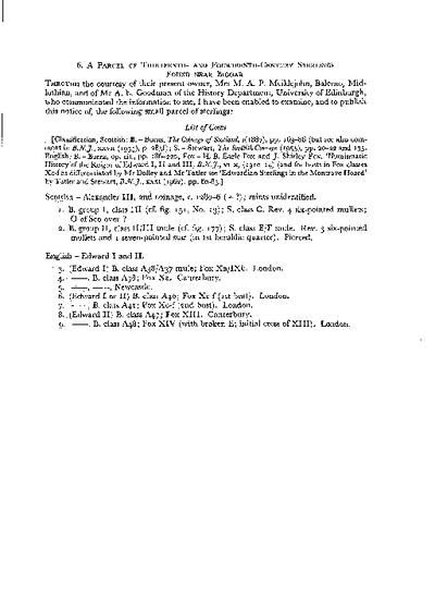 A Parcel of Thirteenth and Fourteenth-Century Sterlings, found near Biggar, Volume 95, 309-10