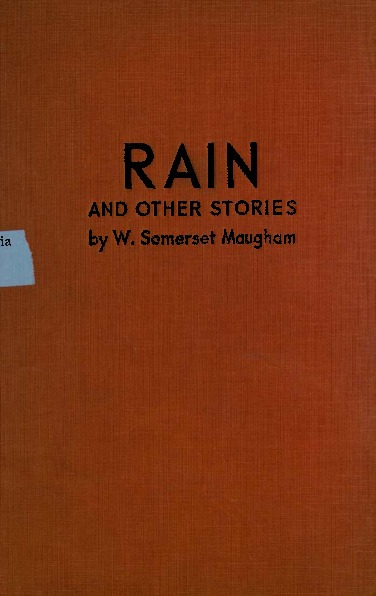 Rain and other Stories published under the title of the Trembling of a Leaf