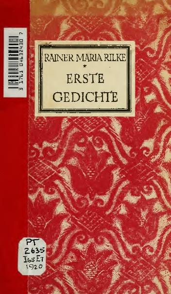 Erste Gedichte Rainer Maria Rilke Europeana Collections