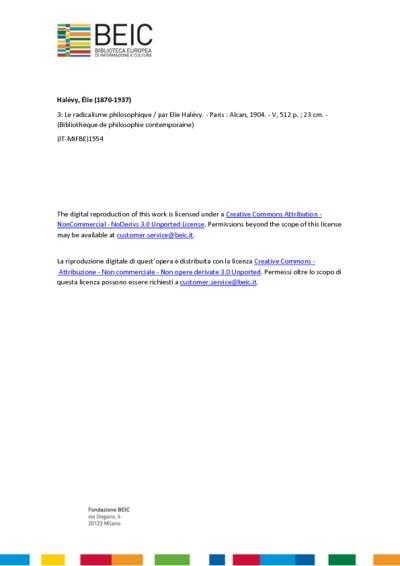 Le radicalisme philosophique 3