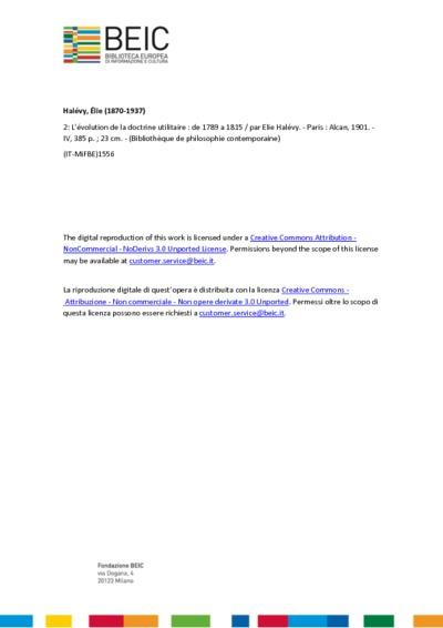 L'évolution de la doctrine utilitaire de 1789 a 1815 2