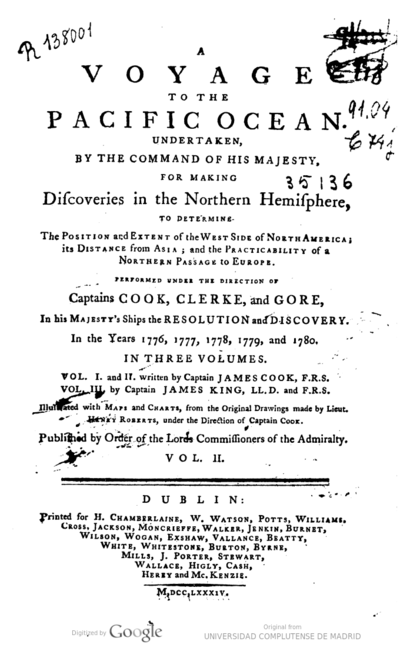 A voyage to the Pacific Ocean Undertaken by the command of His Majesty, for making discoveries in the Northern hemisphere, to determine the position and extent of the west side of North America