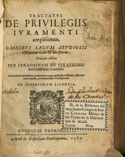 Tractatus de priuilegiis iuramenti amplissimus ...