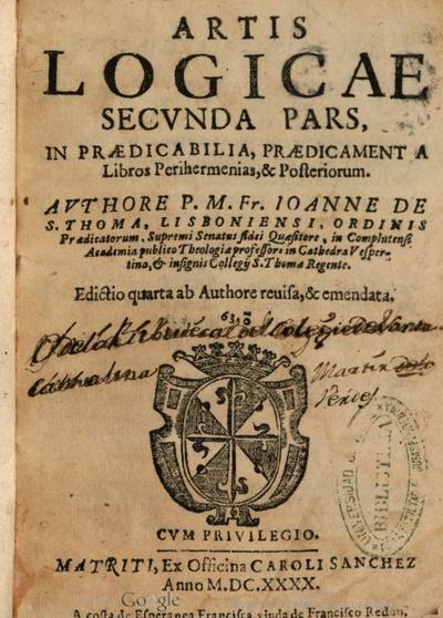 Artis logicae secunda pars in praedicabilia praedicamenta libros Perihermenias posteriorum