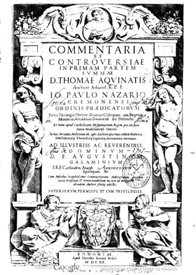 Commentaria et controuersiae in Primam partem Summae D. Thomae Aquinatis