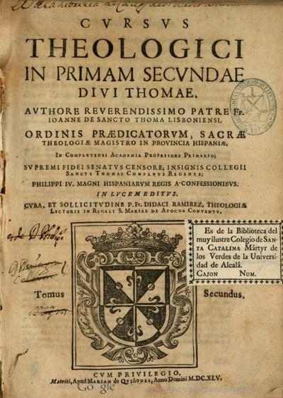 Cursus theologici in primam secundae diui Thomae