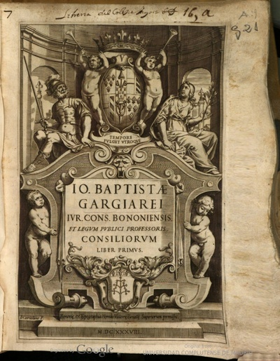 Io. Baptistae Gargiarei ... Consiliorum liber primus