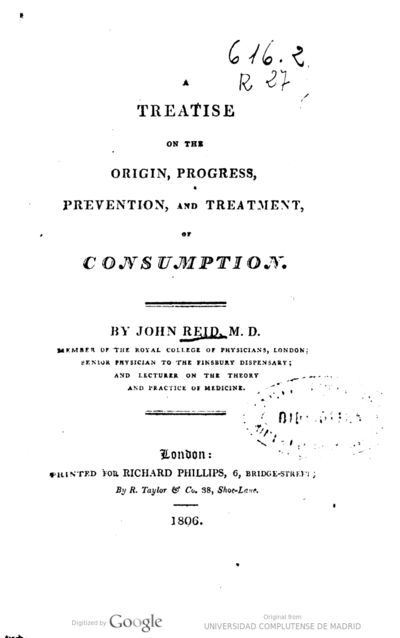 A treatise on the origin, progress, prevention, and treatment of consumption