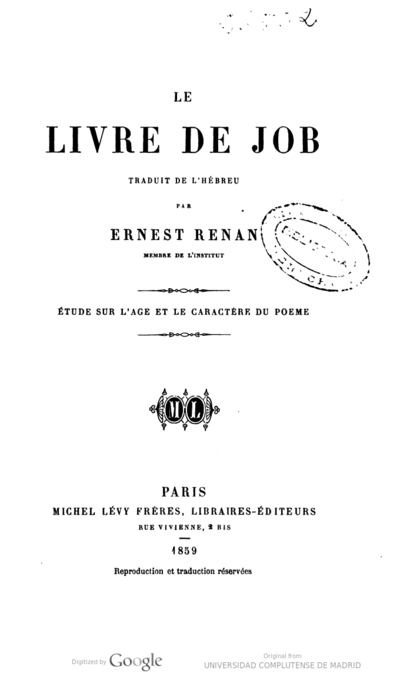 Biblia Ernest Renan Europeana Collections
