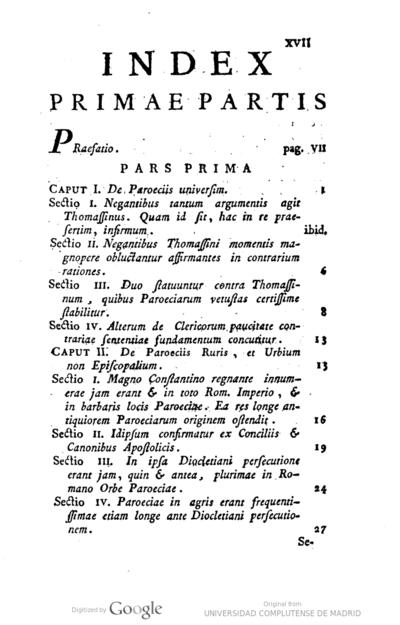 De antiqua paroeciarum origine deque eximia clarissimorum episcoporum in parochos benignitate singularique parochorum in episcopos observantia diatriba