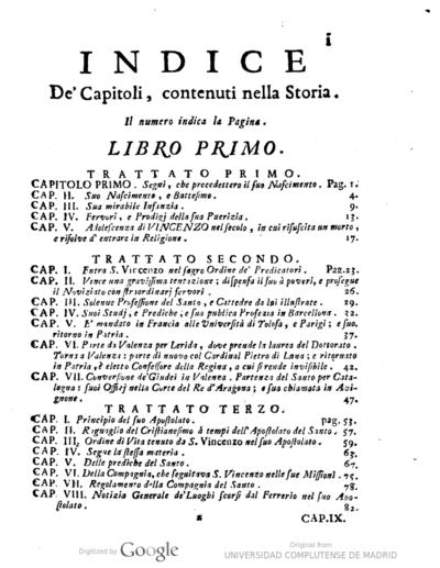 Storia della vita, e del culto di S. Vincenzo Ferrerio ...