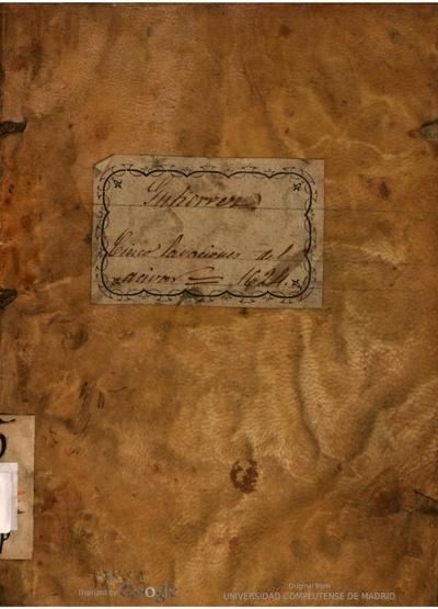 Exposición y tratado sobre las cinco labaciones y preparaciones del aciuar