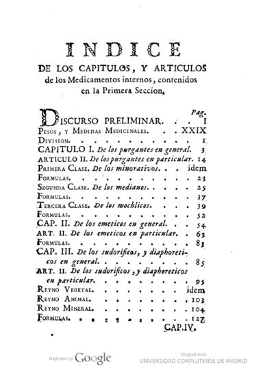 Tratado Theorico-Practico de la materia medica parte interna : Tomo I