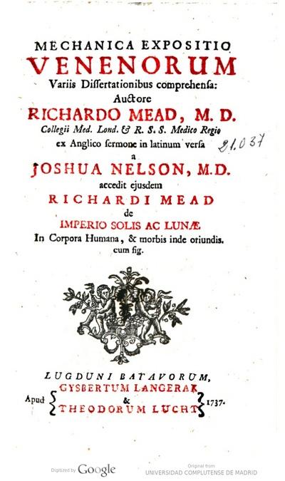 Mechanica expositio venenorum variis dissertationibus comprehensa