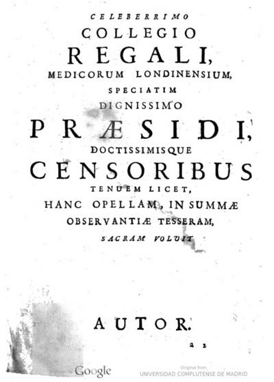Gulielmi Cole ... Nouae hypotheseos, ad explicanda febrium intermittentium symptomata et typos excogitatae Hypotyposis. Unà cum aetiologia remediorum, & speciatim de curatione per corticem peruuianum : Accessit...