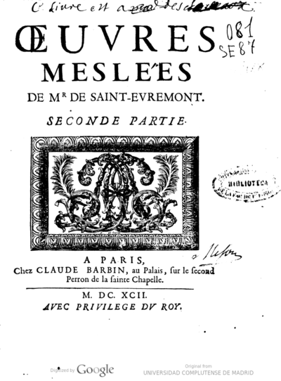 Oeuvres meslées