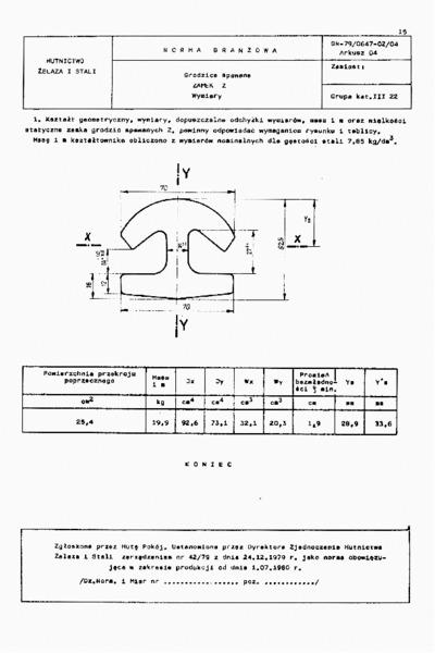 Image from object titled Grodzice spawane -Zamek Z - Wymiary BN-79/0647-02/04 Arkusz 04