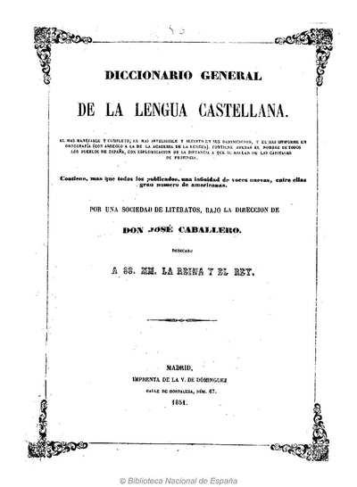 Diccionario general de la lengua castellana [Texto impreso]