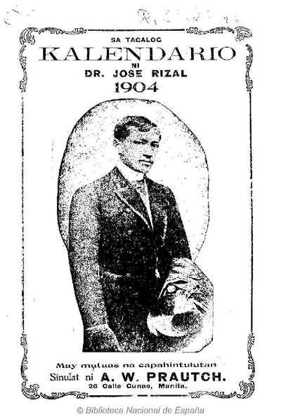Kalendariong tagalog ni José Rizal [Texto impreso]