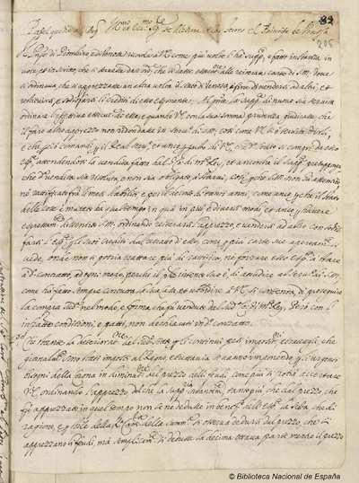 Informe del Príncipe de Venosa, al Duque de Medina de las Torres, sobre el estado de Venosa [Manuscrito]