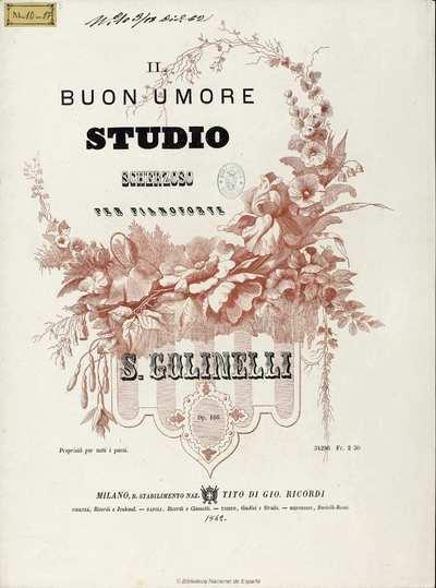 Il buon umore [Música notada] : studio scherzoso per pianoforte, op. 166