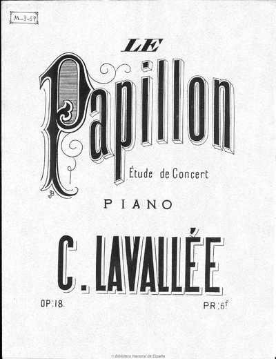 Le papillon [Música notada] : étude de concert pour piano, op. 18