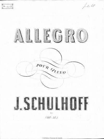 Allegro pour le piano, op. 51 [Música notada]