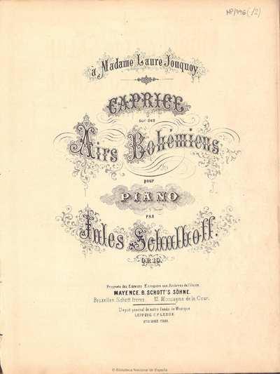 Caprice sur des airs bohémiens [Música notada]:]pour piano : op. 10