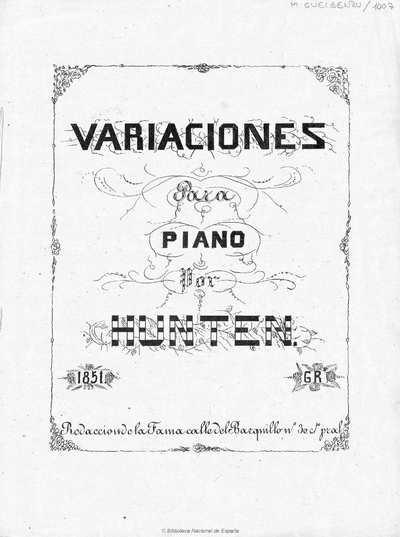 Variaciones para piano [Música notada]