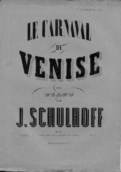 Le carnaval de Venise [Música notada] :]op. 22