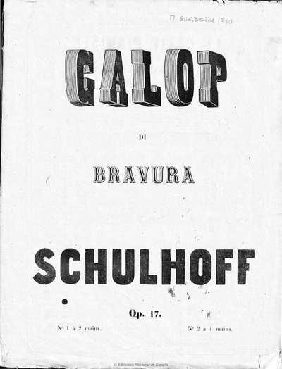 Galop di bravura [Música notada] :]pour piano, op. 17