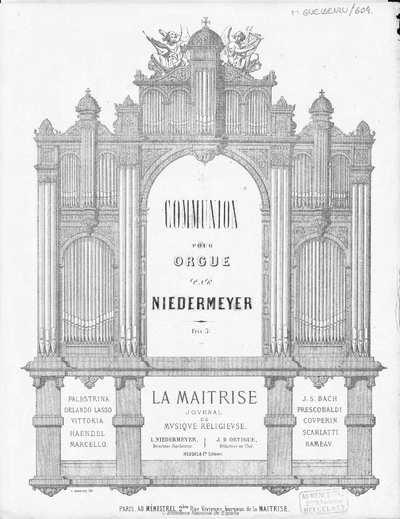 Comunion pour orgue [Música notada]
