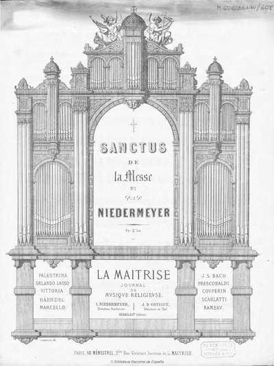 Sanctus de la Messe n. 1 [Música notada]