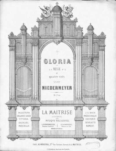 Gloria de la Messe n. 2 [Música notada] :]à quatre voix