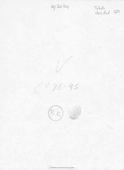 Letras de los villancicos, qve se han de cantar en los Maitines del Nacimiento de ... Iesu Christo, en la ... Iglesia de Toledo, Primada de las Españas, este año de 1680 [Texto impreso]