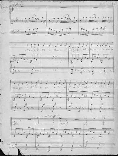 [Non e la sorte] : para canto con acompañamiento de piano
