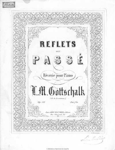 Reflets du passé [Música notada] :]rêverie pour piano, op. 28