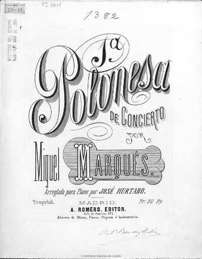 1ª polonesa de concierto [Música notada]