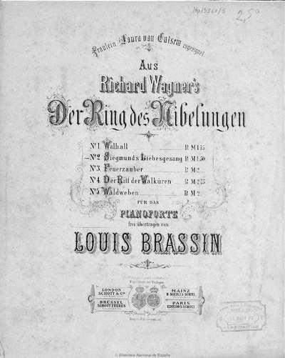 Siegmund's Liebesgesang.. N. 2 :aus Richard Wagner's Der Ring des Nibelungen