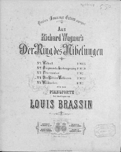 Aus Richard Wagner's Der Ring des Nibelungen.. N. 3,, Feuerzauber [Música notada]