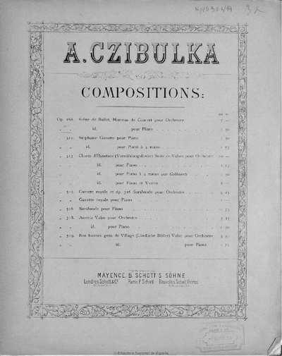 Scène de ballet [Música notada]:]pour piano, op. 268