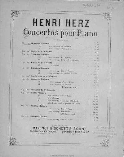 Second concerto [Música notada] :]op. 74