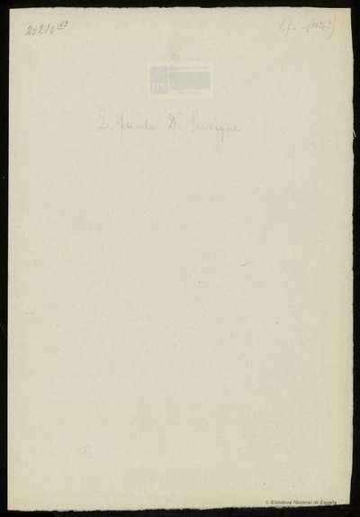 Carta del Infante Don Enrique a destinatario incierto
